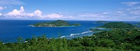 """View over Anse L'Islette and Therese Island, Seychelles by Panoramic Images - 27"""" x 9"""""""