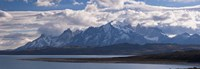 "Snow covered mountain range, Torres Del Paine, Torres Del Paine National Park, Chile by Panoramic Images - 27"" x 9"""