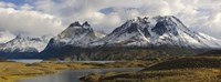 """Clouds over snowcapped mountain, Grand Paine, Mt Almirante Nieto, Torres Del Paine National Park, Chile by Panoramic Images - 27"""" x 9"""", FulcrumGallery.com brand"""