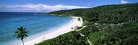 """High angle view of Grand Anse Beach, La Digue Island, Seychelles by Panoramic Images - 27"""" x 9"""", FulcrumGallery.com brand"""