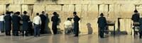 "People praying at Wailing Wall, Jerusalem, Israel by Panoramic Images - 27"" x 9"""