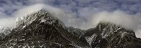 """Clouds over Snowcapped mountain range, Paine Massif, Torres del Paine National Park, Magallanes Region, Patagonia, Chile by Panoramic Images - 27"""" x 9"""", FulcrumGallery.com brand"""