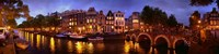 "Amsterdam at Dusk, Netherlands by Panoramic Images - 36"" x 9"""