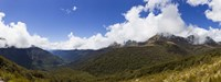 "Mountain range, Key Summit, Fiordland National Park, South Island, New Zealand by Panoramic Images - 27"" x 9"""