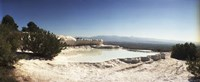 "Hot springs and Travertine Pool, Pamukkale, Turkey by Panoramic Images - 27"" x 9"""