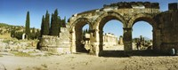"Arched facade in ruins of Hierapolis at Pamukkale, Anatolia, Central Anatolia Region, Turkey by Panoramic Images - 27"" x 9"""