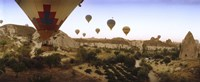 "Hot air balloons, Cappadocia, Central Anatolia Region, Turkey by Panoramic Images - 27"" x 9"""
