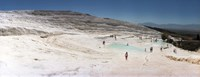 "Tourists enjoying the hot springs and travertine pool, Pamukkale, Denizli Province, Turkey by Panoramic Images - 27"" x 9"""