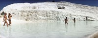 "Children enjoying in the hot springs and travertine pool, Pamukkale, Denizli Province, Turkey by Panoramic Images - 27"" x 9"""