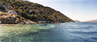"People kayaking in the Mediterranean sea, Sunken City, Kekova, Antalya Province, Turkey by Panoramic Images - 27"" x 9"""