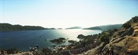 """View of village and sea, Kekova, Lycia, Antalya Province, Turkey by Panoramic Images - 27"""" x 9"""""""