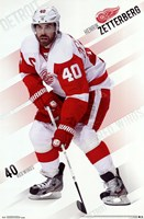 "Detroit Red Wings® - H Zetterberg 13 - 22"" x 34"", FulcrumGallery.com brand"