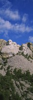 Sculptures of US presidents carved on the rocks of a mountain, Mt Rushmore National Monument, South Dakota, USA Fine Art Print