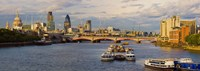 "Bridge across a river with a cathedral, Blackfriars Bridge, St. Paul's Cathedral, Thames River, London, England by Panoramic Images - 27"" x 9"""