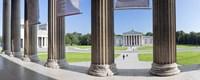 "View from Staatliche Antikensammlung to the Propylaeen and Glyptothek, Koenigsplatz, Munich, Bavaria, Germany by Panoramic Images - 27"" x 9"""