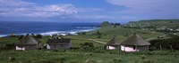 """Thatched Rondawel huts, Hole in the Wall, Coffee Bay, Transkei, Wild Coast, Eastern Cape Province, Republic of South Africa by Panoramic Images - 27"""" x 9"""""""