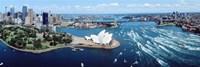 Australia, Sydney, aerial Framed Print