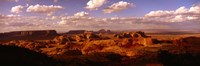 """Monument Valley Under Cloudy Sky by Panoramic Images - 36"""" x 12"""""""