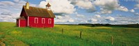 Small Red Schoolhouse, Battle Lake, Minnesota, USA Fine Art Print