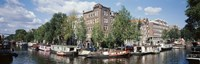 "Netherlands, Amsterdam, intersecting channels by Panoramic Images - 36"" x 12"""