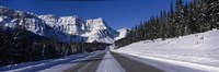 "Canada, Alberta, Banff National Park, road, winter by Panoramic Images - 36"" x 12"""