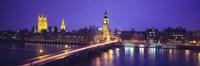 England, London, Parliament, Big Ben Fine Art Print