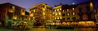 """Low Angle View Of Buildings, Piazza Della Riforma, Lugano, Switzerland by Panoramic Images - 36"""" x 12"""""""