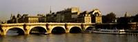 "Pont Neuf Bridge, Paris, France by Panoramic Images - 36"" x 12"""
