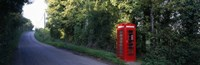 Phone Booth, Worcestershire, England, United Kingdom Fine Art Print