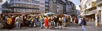 """Farmer's Market, Bonn, Germany by Panoramic Images - 36"""" x 12"""""""