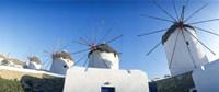 "Windmills Santorini Island Greece by Panoramic Images - 36"" x 12"""