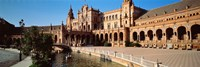 """Plaza Espana, Seville, Spain by Panoramic Images - 36"""" x 12"""", FulcrumGallery.com brand"""