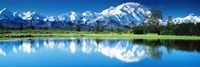 "Lake in Denali National Park AK by Panoramic Images - 36"" x 12"""