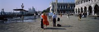 """Tourists at a town square, St. Mark's Square, Venice, Veneto, Italy by Panoramic Images - 36"""" x 12"""" - $34.99"""