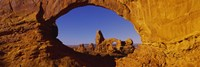 Natural arch on a landscape, Arches National Park, Utah, USA Fine Art Print