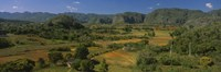 """High angle view of a landscape, Valle De Vinales, Pinar Del Rio, Cuba by Panoramic Images - 36"""" x 12"""", FulcrumGallery.com brand"""