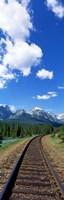 "Rail Road Tracks Banff National Park Alberta Canada by Panoramic Images - 12"" x 36"""