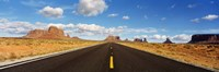 """Road, Monument Valley, Arizona, USA by Panoramic Images - 36"""" x 12"""""""