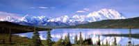 Snow Covered Mountains, Wonder Lake, Denali National Park, Alaska Fine Art Print