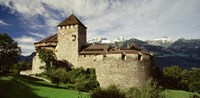 "The Castle in Vaduz Lichtenstein by Panoramic Images - 36"" x 18"""