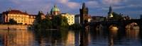 "Charles Bridge, Prague Czech Republic by Panoramic Images - 36"" x 12"""