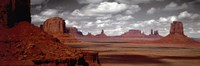 """Mountains, West Coast, Monument Valley, Arizona, USA, by Panoramic Images - 36"""" x 12"""""""
