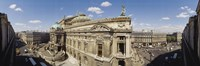 """High Angle View Of Opera Garnier, Paris, France by Panoramic Images - 36"""" x 12"""""""