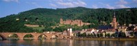 Germany, Heidelberg, Neckar River Fine Art Print