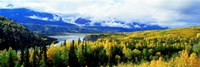 Panoramic View Of A Landscape, Yukon River, Alaska, USA, Fine Art Print