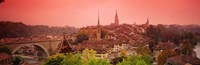 "Dusk Bern Switzerland by Panoramic Images - 36"" x 12"""