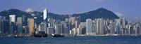 "Waterfront View of Hong Kong China by Panoramic Images - 36"" x 12"""