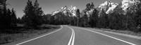 """Road Winding Through Teton Range, Grand Teton National Park, Wyoming, USA by Panoramic Images - 36"""" x 12"""""""