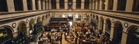"""High angle view of a group people at a stock exchange, Paris Stock Exchange, Paris, France by Panoramic Images - 36"""" x 12"""", FulcrumGallery.com brand"""