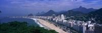 Aerial view of Copacabana Beach, Rio De Janeiro, Brazil Fine Art Print